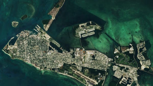 Satellite imagery of the state of Florida