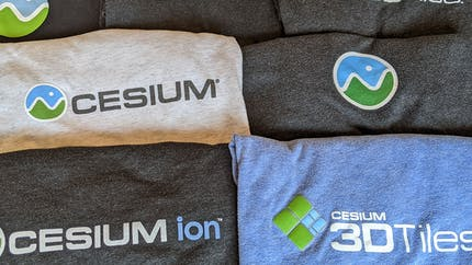 Cesium t-shirts with the Cesium logo.