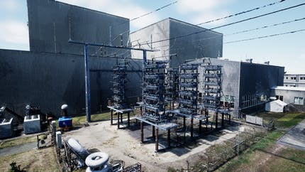 Transformer station exterior from ContextCapture in Cesium for Unreal.
