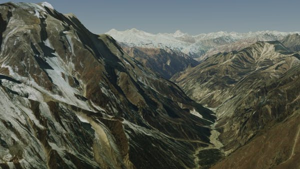 The Himalayas In Cesium World Terrain