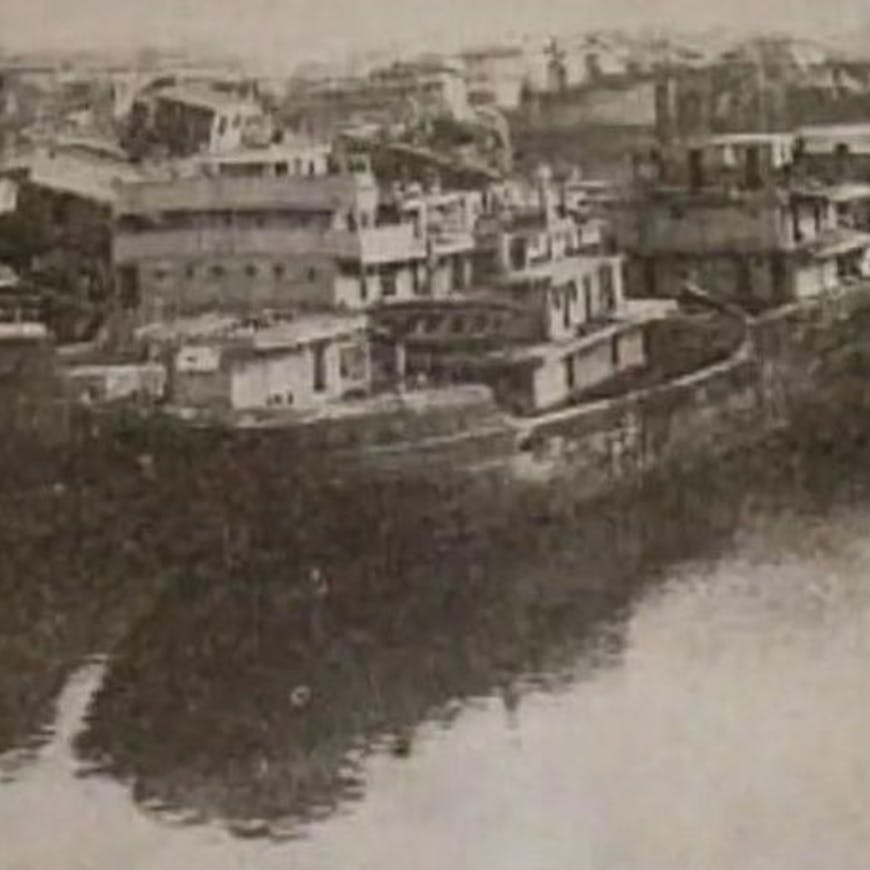 Historical photo of ships in Mallows Bay