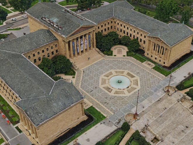 Photogrammetry data, an aerial view of the Philadelphia Museum of Art