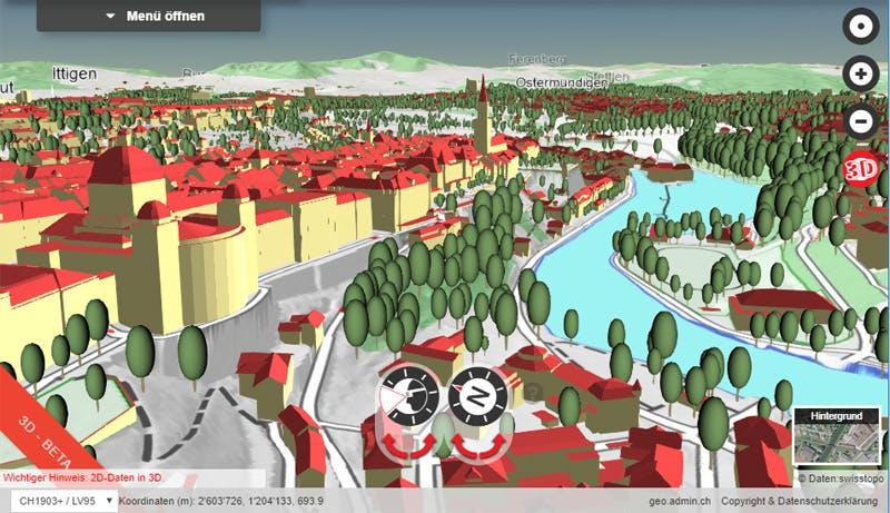 Swiss Federal Geoportal 3D viewer