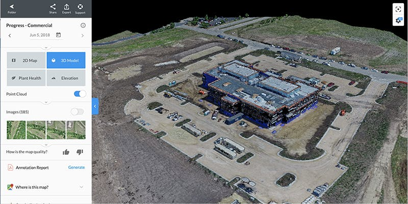 Cesium at work in DroneDeploy