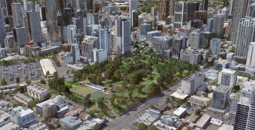 Photogrammetry model of Melbourne provided by Aero3DPro