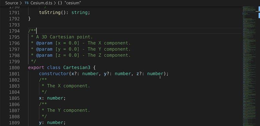 CesiumJS TypeScript definitions