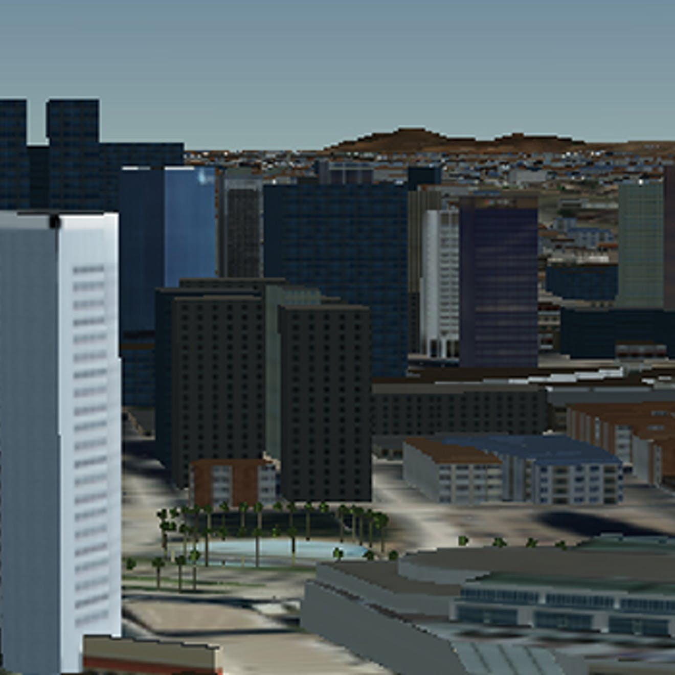 CDB data showing San Diego skyline