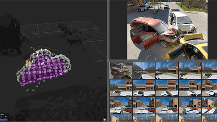 Skydio 3D Scan software, powered by Cesium.