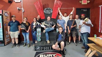 Some members of the Cesium team at Bury the Hatchet in Philadelphia