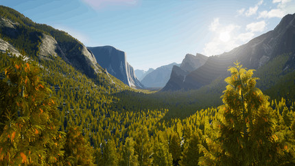 Yosemite National Park in Cesium for Unreal