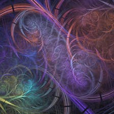Colorful digital art by  Peter Gagliardi.