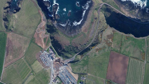 Bing Maps Imagery of Ireland visualized in Cesium