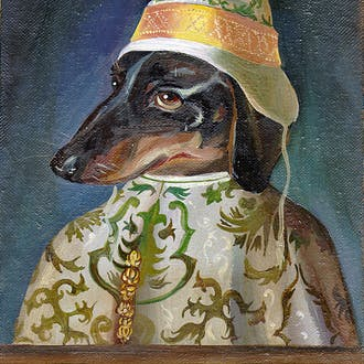 """""""Bruiser"""" from the cover of Dr. Norm Badler's book, Dachshund Days."""