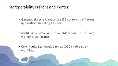 """A slide with the title """"Interoperability is Front and Center"""""""
