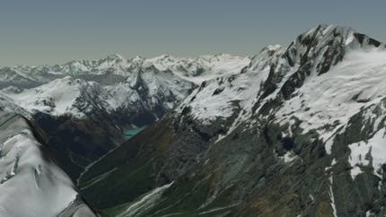 Mountains in Cesium World Terrain