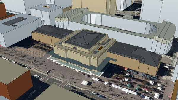 Union Station in Denver, CO in Cesium OSM Buildings