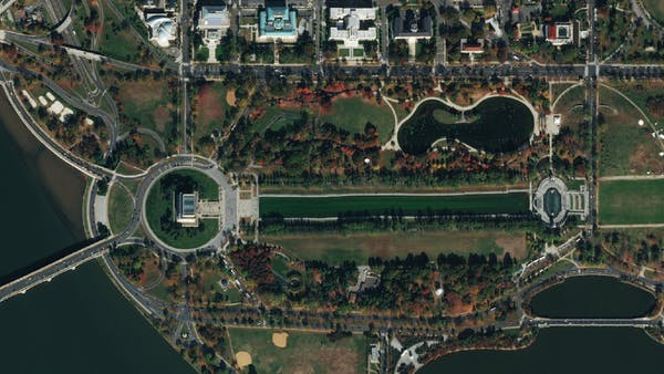 Bing Imagery of Washington DC visualized in Cesium.