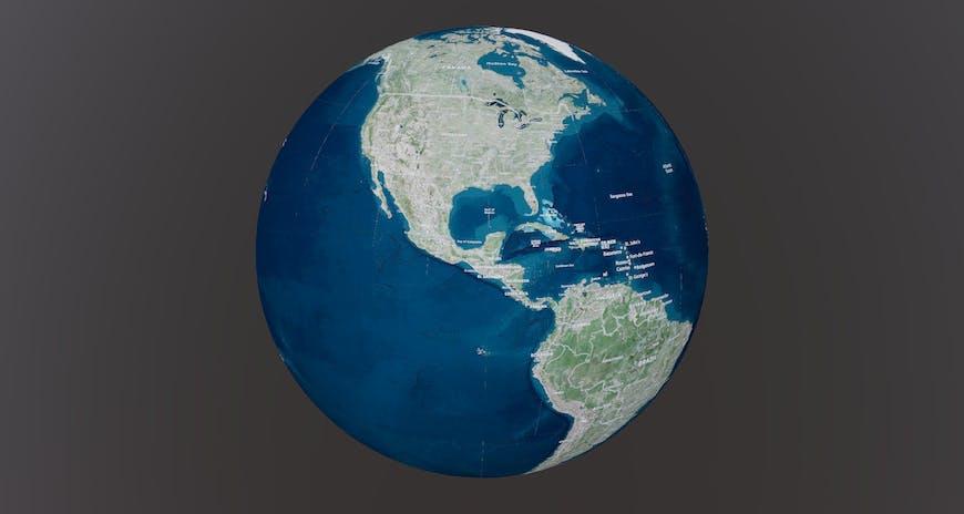 Earth rendered as 3D Tiles in O3DE