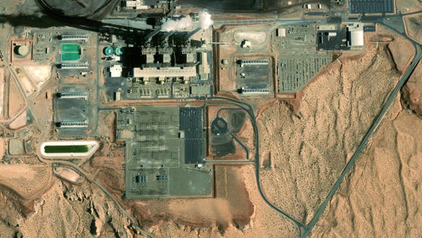 Bing Maps Aerial imagery of a power station in Arizona