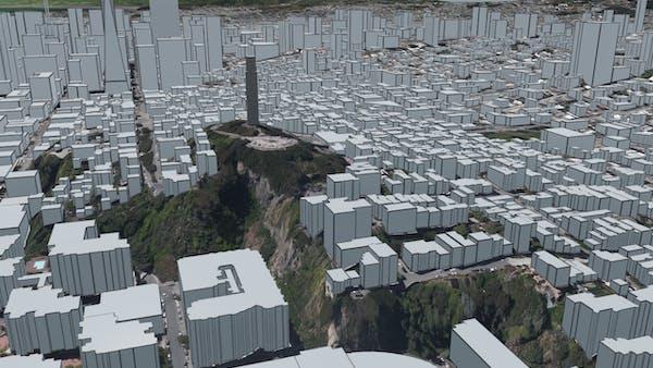 San Francisco in Cesium OSM Buildings