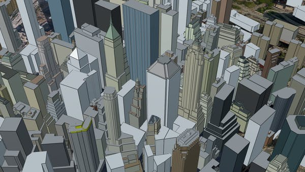 NYC in Cesium OSM Buildings