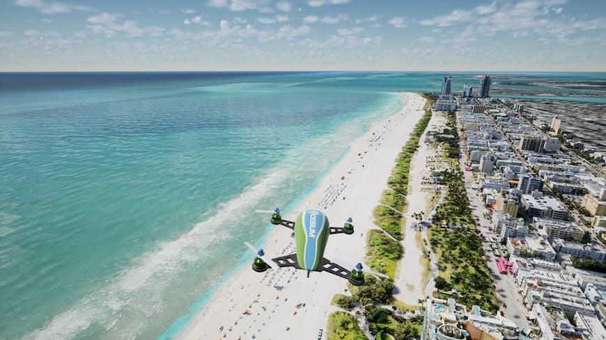 Miami data from Aerometrex in Cesium for Unreal