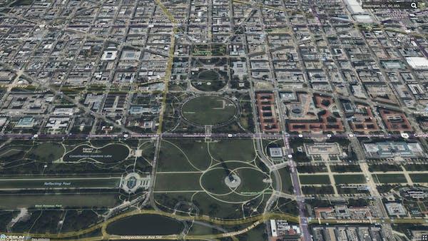 High resolution satellite imagery of Washington DC