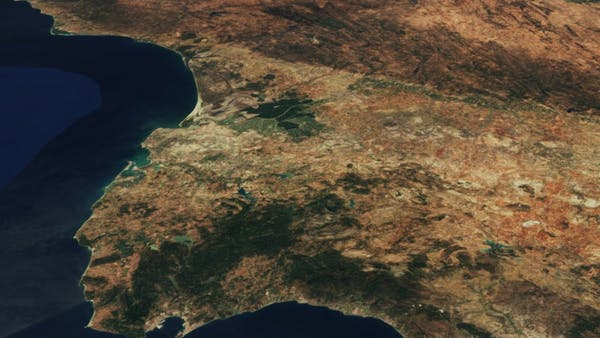 Sentinel-2 cloudless satellite imagery of Spain