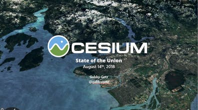 A title slide from a presentation: Cesium State of the Union