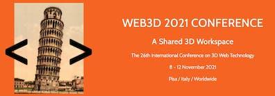 3D web conference banner 2021