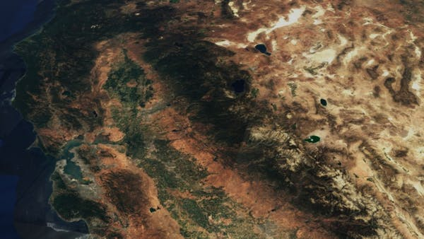 Sentinel-2 cloudless satellite imagery of the West coast of the United States