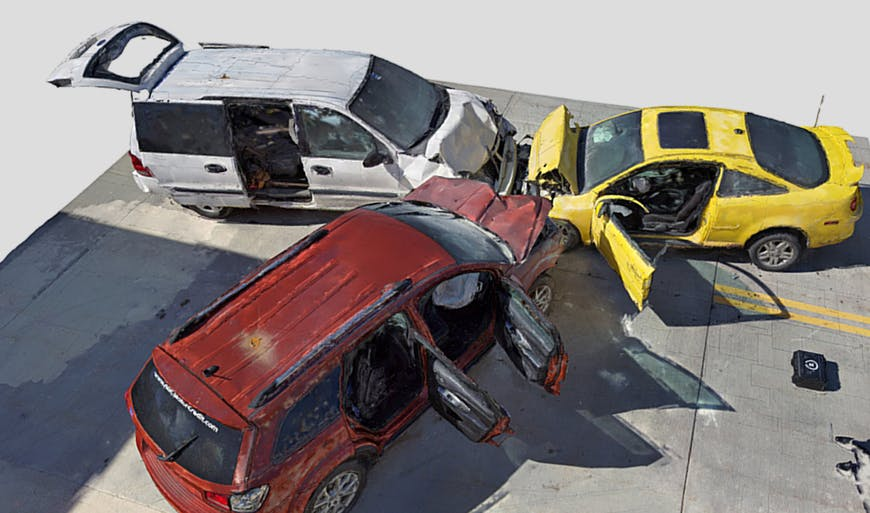 3D Scan of an automobile accident.