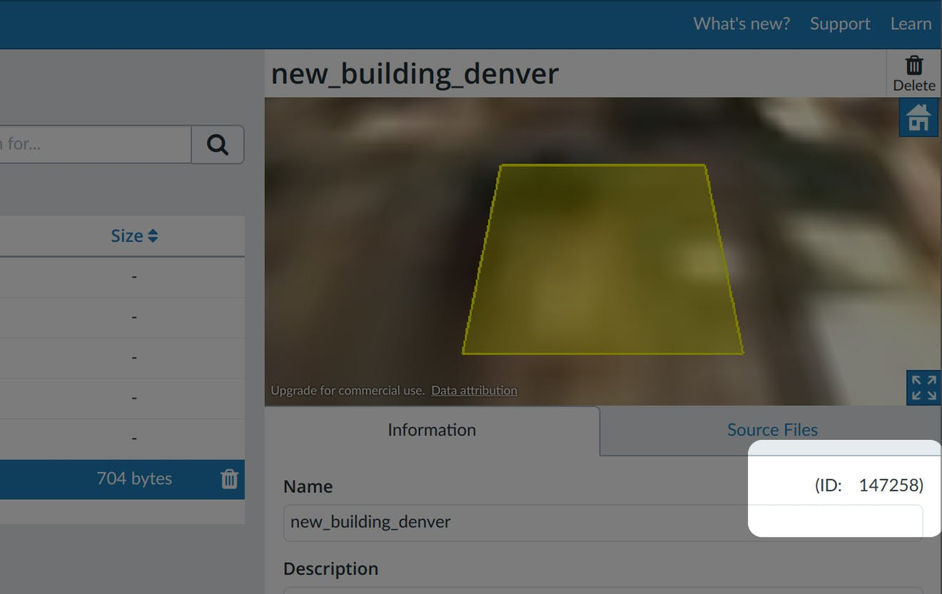 Building proposal asset id