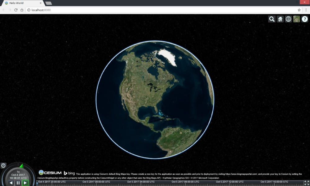 Cesium and Webpack viewer styled output