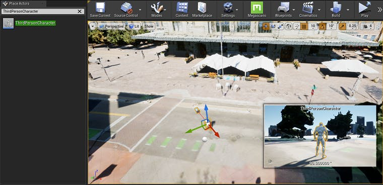 Cesium for Unreal controllers dragPawnIn