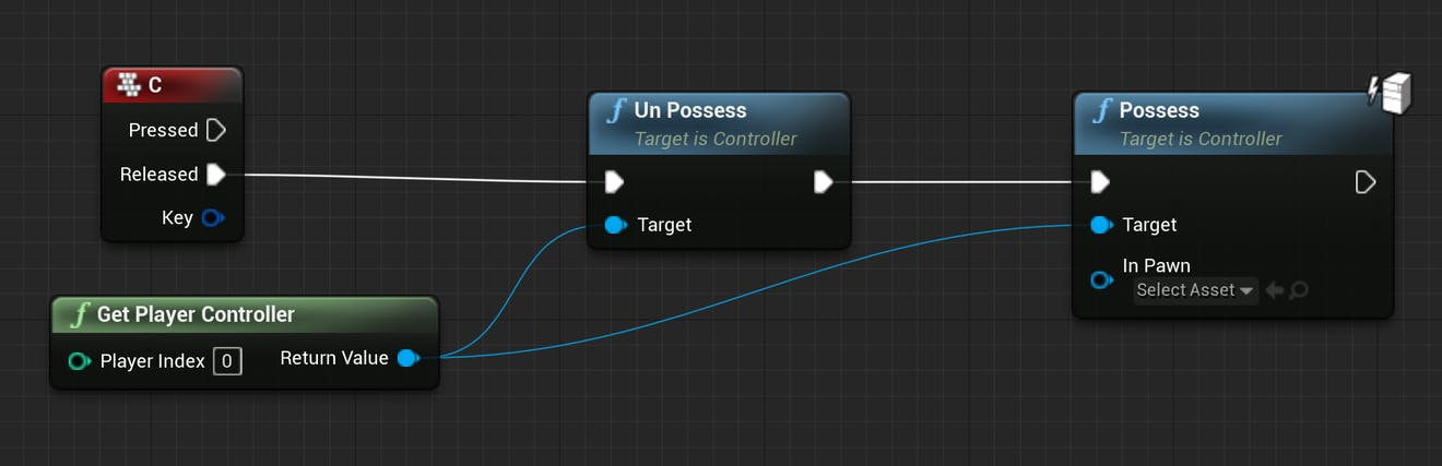 Cesium for Unreal controllers nodeSetup