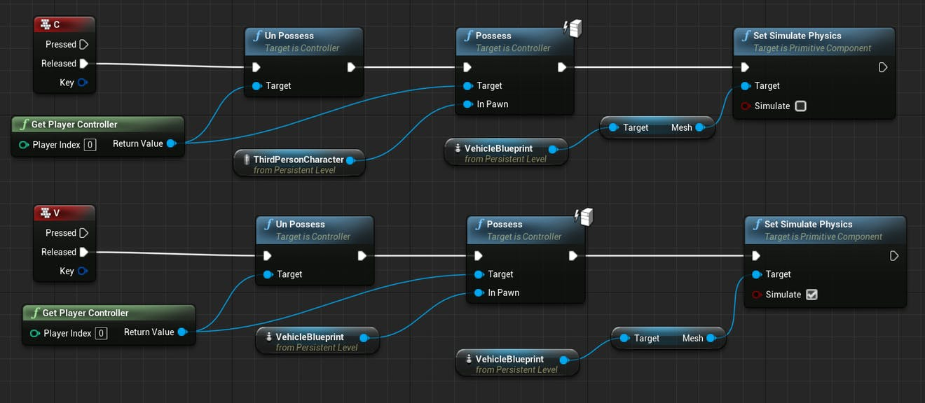 Cesium for Unreal controllers nodesFullWithPhysics