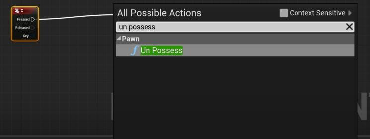 Cesium for Unreal controllers unPossessNode
