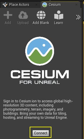 Cesium for Unreal photogrammetry connect