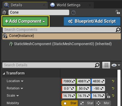 Cesium for Unreal placing add component