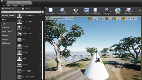 Cesium for Unreal placing placing objects