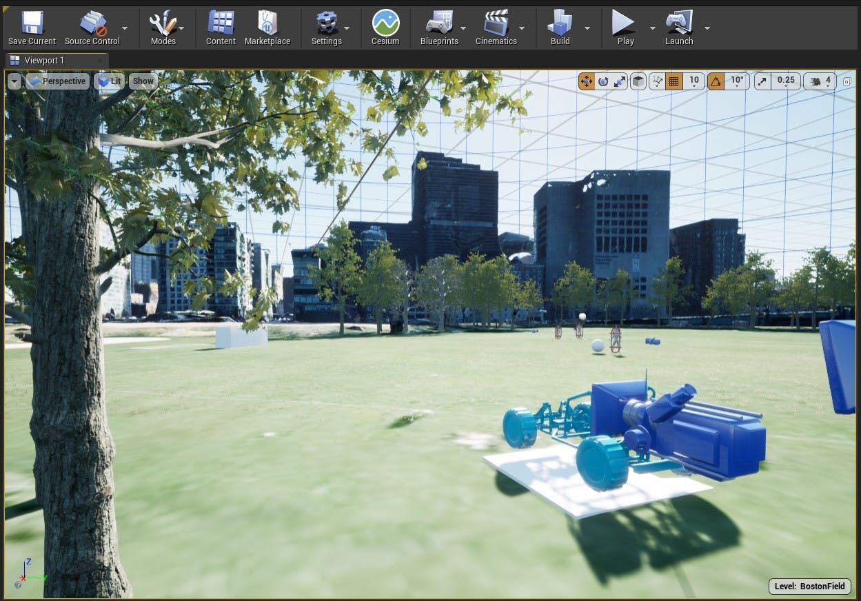 Cesium for Unreal sublevels boston sublevel