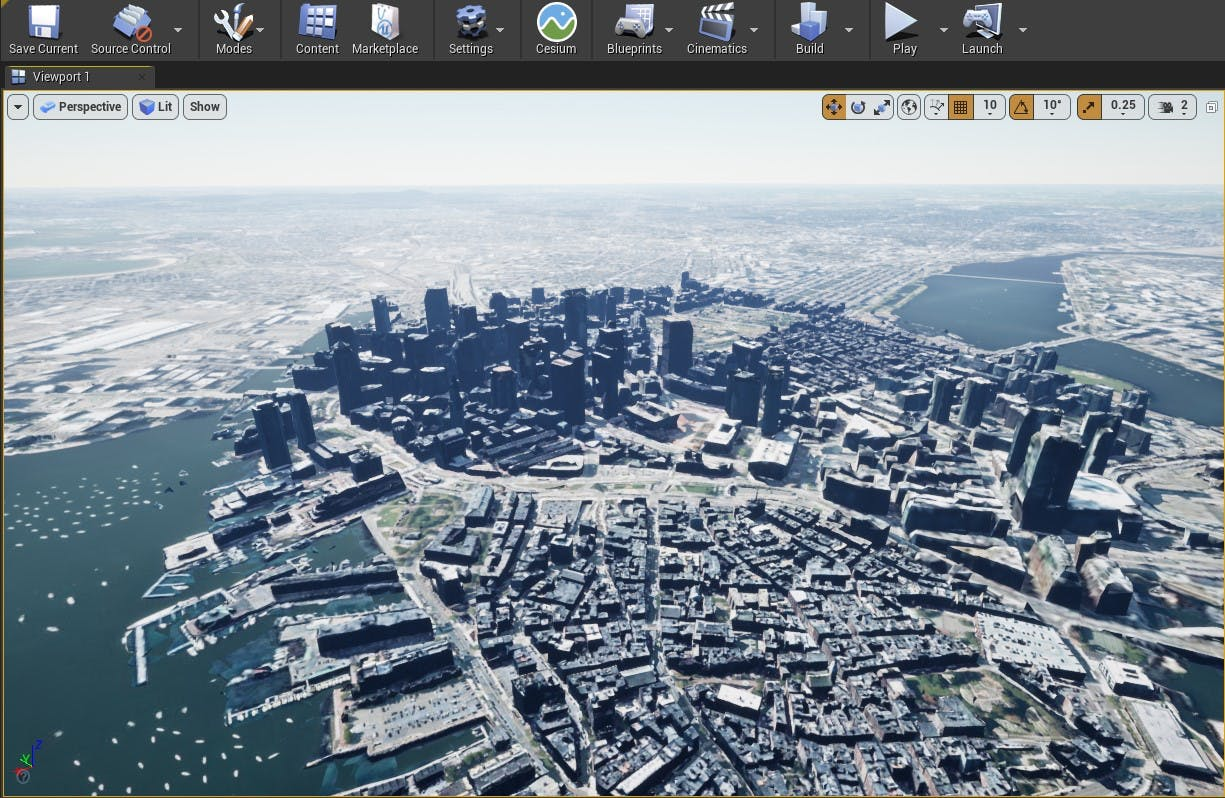 Cesium for Unreal sublevels boston