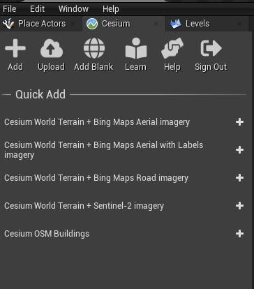 Cesium for Unreal sublevels Cesium ion