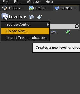 Cesium for Unreal sublevels create sublevel