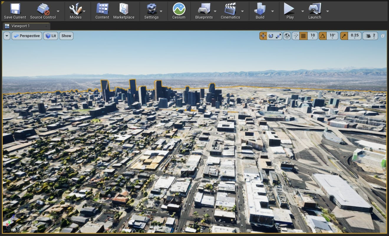 Cesium for Unreal sublevels denver city