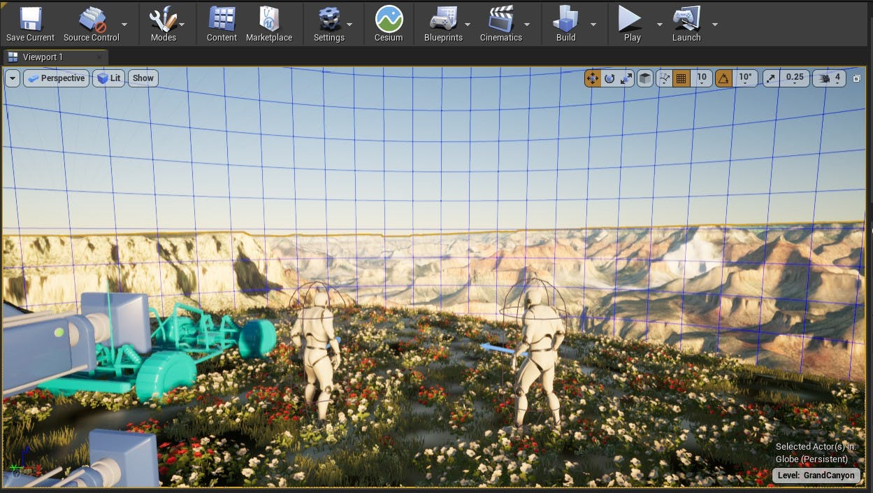 Cesium for Unreal sublevels grand canyon
