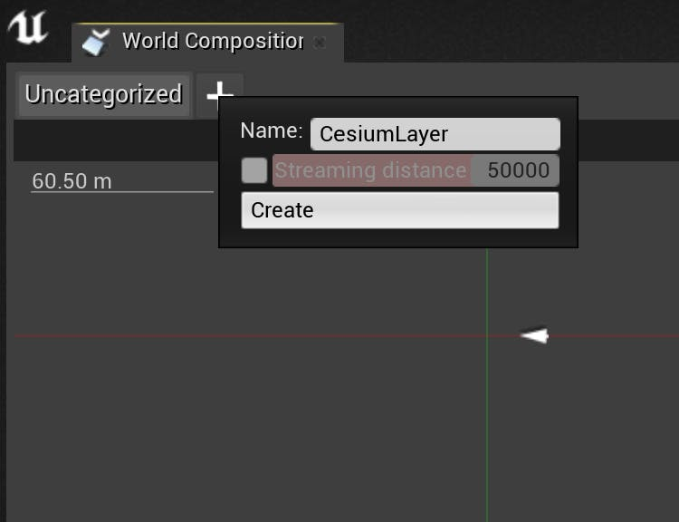 Cesium for Unreal sublevels new layer