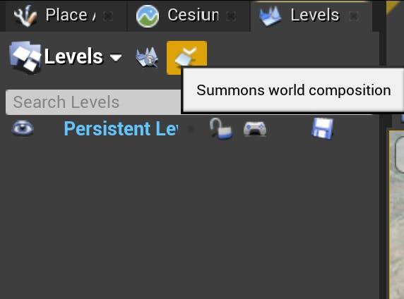 Cesium for Unreal sublevels summon comp