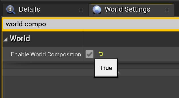 Cesium for Unreal sublevels world composition